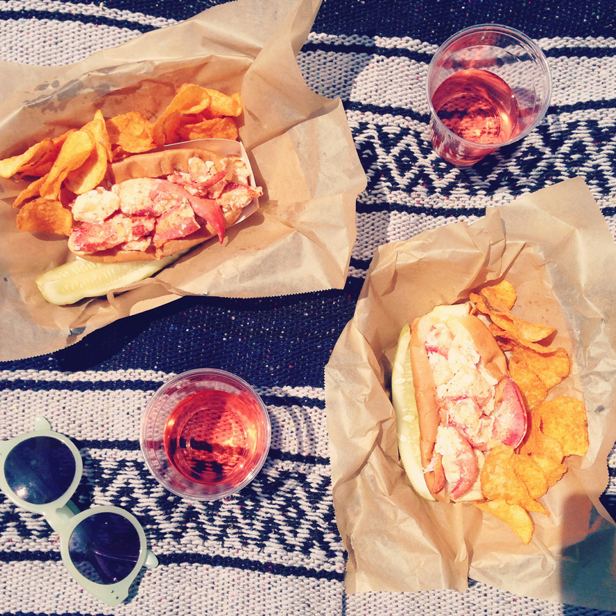 lobster rolls and rose
